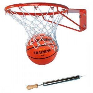 SET ZA KOŠARKO (obroč, mrežica, žoga, tlačilka