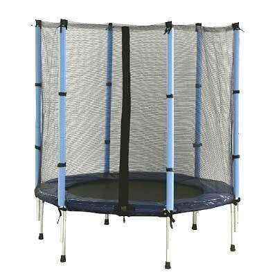 trampolin z za itnim obro em od 3 8 let fi 137 cm obremenitev do 60 kg. Black Bedroom Furniture Sets. Home Design Ideas