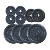 KOMPLET LITOŽELEZNIH UTEŽI 60 kg -  4x10 kg, 2x5 kg, 4x2,5 kg