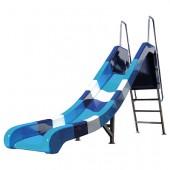 TOBOGAN BLUE-WAVE, VIŠINA 110 cm, DOLŽINA DRSALNICE 250 cm, ŠIRINA 43 cm, DOLŽINA TOBOGANA 330 cm, 100 kg