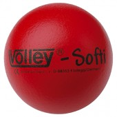 ŽOGA PENA S KOŽO VOLLEY SOFTY - PREMER 16 CM RDEČA